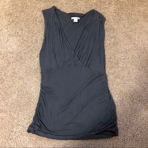 H&M grey ruched tank